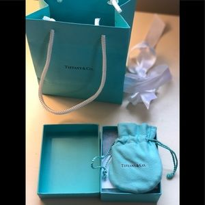 Tiffany necklace with blue heart